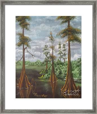 On The Bayou 2 Framed Print by Ann Kleinpeter