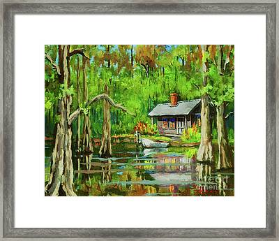 On The Bayou Framed Print