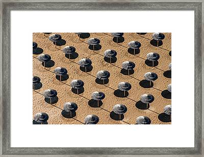 On The Beach Framed Print by Alex De Vora
