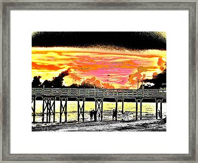 On The Beach Framed Print by Bill Cannon