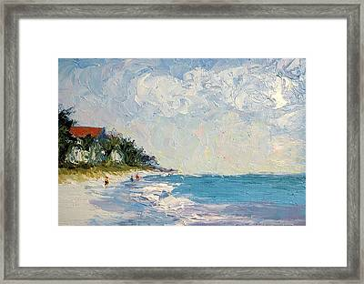 On The Beach  Framed Print by Colleen Murphy