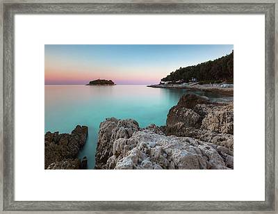 Framed Print featuring the photograph On The Beach In Dawn by Davor Zerjav