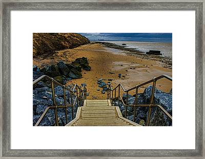 On The Beach Framed Print by Martin Newman