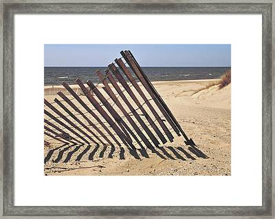 On The Beach Framed Print by Odd Jeppesen