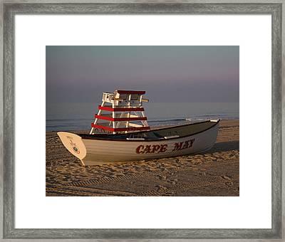 On The Beach Framed Print by Robert Pilkington