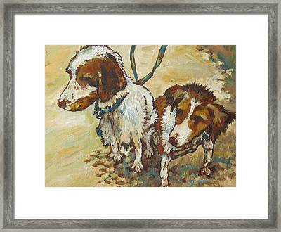 On The Beach Framed Print by Sandy Tracey