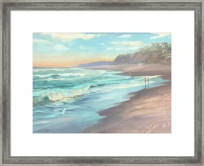 On The Beach Framed Print