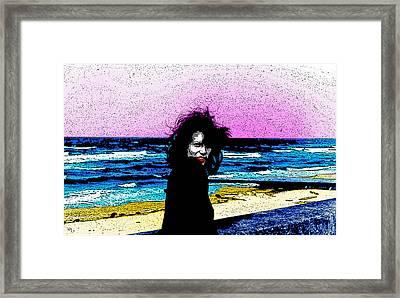 On The Beachfront Framed Print