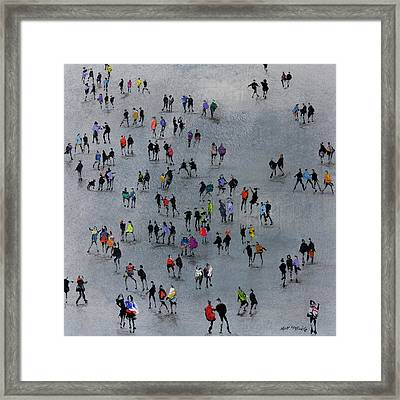 On The Beat Framed Print