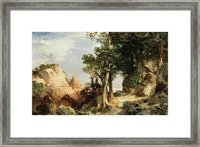 On The Berry Trail  Grand Canyon Of Arizona Framed Print by Thomas Moran