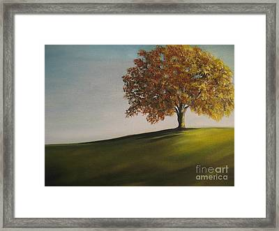 On The Bike Trail Framed Print by Carol Sweetwood