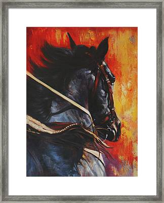 Framed Print featuring the painting On The Black by Harvie Brown