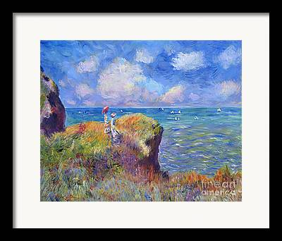 Woman In Nature Framed Prints