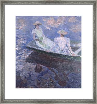 On The Boat 1887 Framed Print by Claude Monet