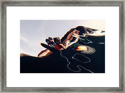 On The Boat Framed Print