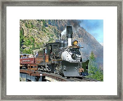On The Bridge Framed Print by Ken Smith