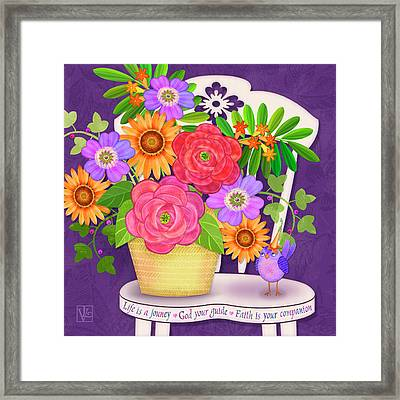On The Bright Side - Flowers Of Faith Framed Print