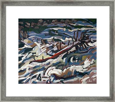 On The Brink Of Grande Chute Framed Print