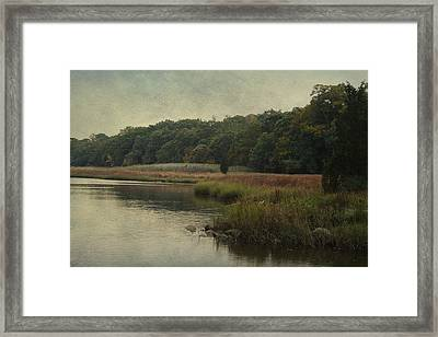 Framed Print featuring the photograph On The Brink Of Winter by Rosemary Aubut