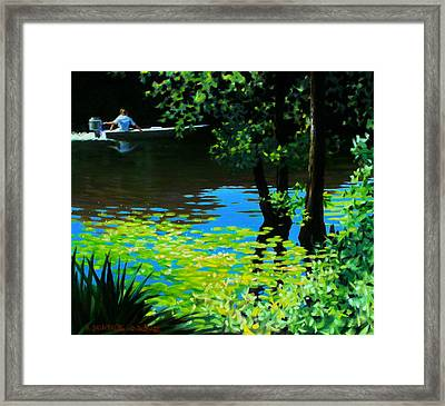 On The Calcasieu Framed Print