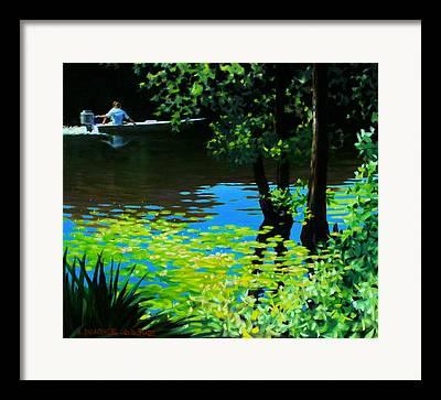 Calcasieu River Framed Prints