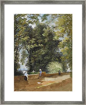 On The Castle Wall, Exeter Framed Print