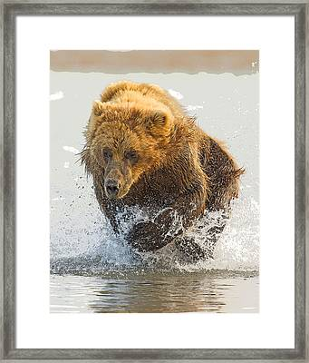 On The Chase- Abstract Framed Print