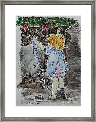 On The Christmas Eve Sketch Framed Print