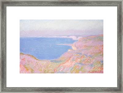 On The Cliffs Near Dieppe, Sunset, 1897 Framed Print