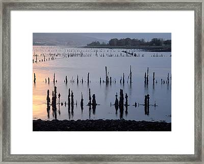 On The Clyde Framed Print