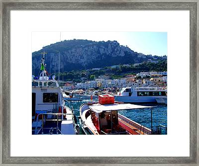 On The Coast Of Capri Framed Print by Mindy Newman