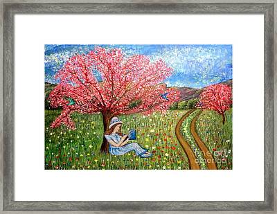 On The Continuous Road To My Enlightenment Framed Print by Kimberlee Baxter