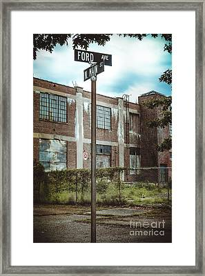 On The Corner Of Ford And Main Framed Print