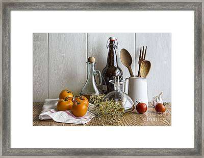 On The Countertop Framed Print by Elena Nosyreva