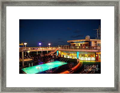 On The Cruise Framed Print by Cesar Marino