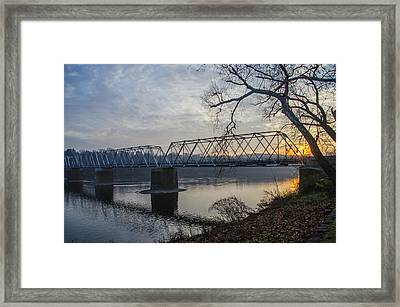 On The Delaware River - Washingtons Crossing Framed Print