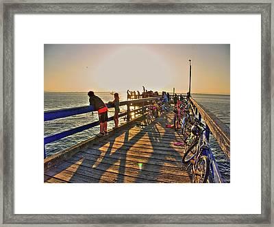 On The Dock 0 Framed Print