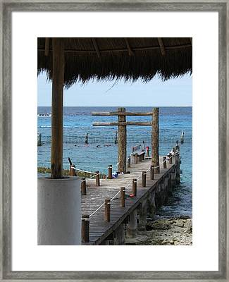 On The Dock Framed Print by Alexis Lape