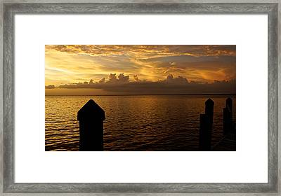 On The Dock Of The Bay Framed Print by Christin Walton