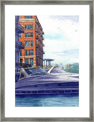 On The Docks Framed Print