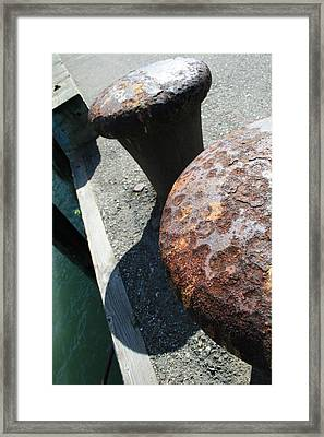 On The Docks Framed Print by Joshua Sunday