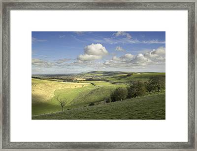 On The Downs Framed Print by Hazy Apple