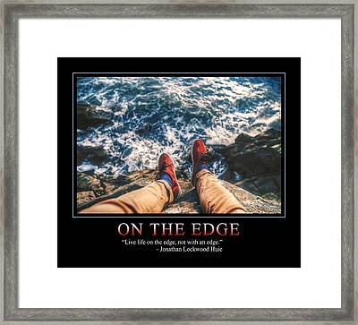 On The Edge Framed Print by Dave Lee