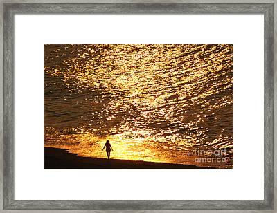 On The Edge Framed Print by Jeff Breiman