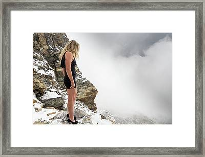 On The Edge Of The Abyss Framed Print