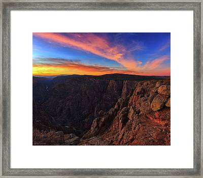 Framed Print featuring the photograph On The Edge by Rick Furmanek