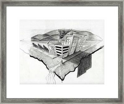 On The Edge Framed Print by Sean Keir Walburn