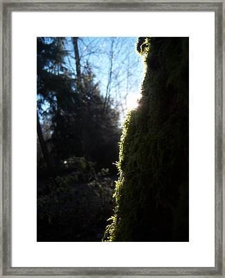 On The Egde Of Light Framed Print by Ken Day