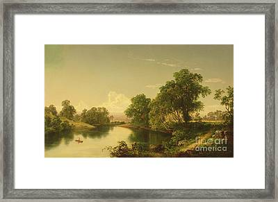 On The Esopus Creek, Ulster County, Ny Framed Print by David Johnson