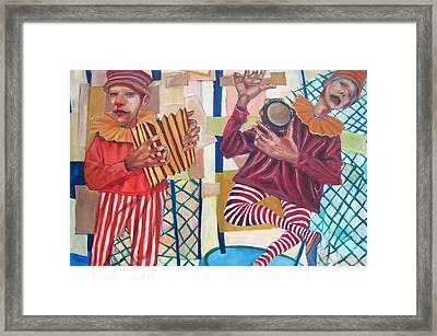 On The Fair Framed Print by Jonathan Franklin